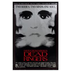 """Dead Ringers"" David Croenberg Signed One Sheet Poster."