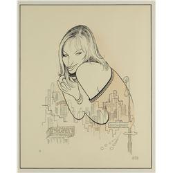 "Al Hirschfeld Signed ""Barbra Streisand"" Etching."