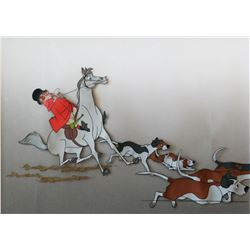 "Mary Poppins"" Fox Hunt Animation Cel."