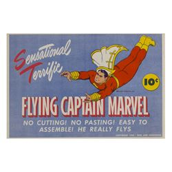 Captain Marvel Flying Paper Toy.