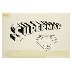 "Original ""Superman"" Title Logo Artwork."