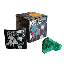 """Superman"" Kryptonite Rock in Box."