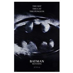 """Batman Returns"" Advance One Sheet Poster."