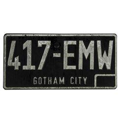 """Batman"" Gotham City Prop License Plate."