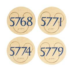 Set of (4) Disneyland Hotel Room Number Plaques.
