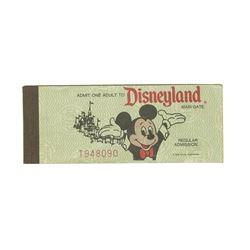 Disneyland 25th Anniversary Unused Ticket Book.
