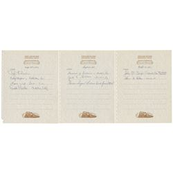 """Collection of (3) """"Lilly Belle"""" Guest Book Pages."""