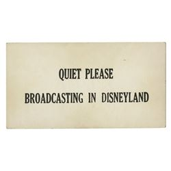 """Wurlitzer Music Hall"" Disneyland Broadcasting Sign."
