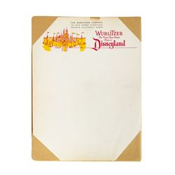"Unused Packet of ""Wurlitzer Music Hall"" Letterhead."