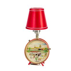 Tin-Litho Disneyland Drum Lamp.