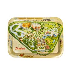Disneyland Map Tin-Litho Tray.