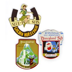 Collection of (3) Limited Edition Attraction Shields.