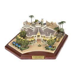 """Plaza Pavilion"", ""Aladdin's Oasis"", ""Tiki Room"" Model."