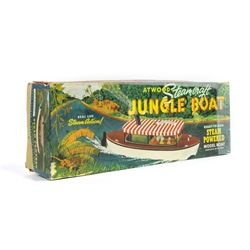 """Jungle Cruise"" Steam Powered Boat Toy in Box."