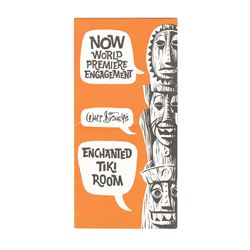 """Enchanted Tiki Room"" World Premiere Gate Flyer."