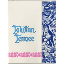 """Tahitian Terrace"" Blue Restaurant Menu."