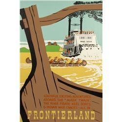 Original Mark Twain & Keel Boats Attraction Poster.
