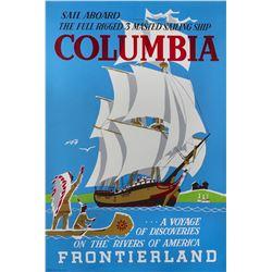 """Sailing Ship Columbia"" Attraction Poster."