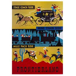 Frontierland Disney Gallery Attraction Poster.