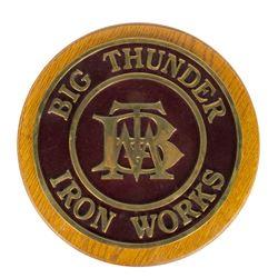 """Big Thunder Mountain"" Boiler Plate Brass Replica."