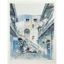 "Herb Ryman Signed ""Royal Courtyard"" Print."