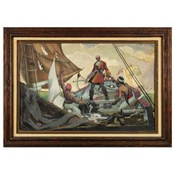 """Pirates of the Caribbean"" Original Painting."