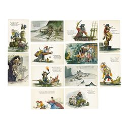 "Set of (12) ""Pirates of the Caribbean"" Postcards."