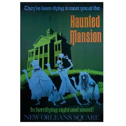 """Haunted Mansion"" Disney Gallery Attraction Poster."