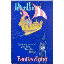 """""""Peter Pan's Flight"""" First-Pull Attraction Poster."""
