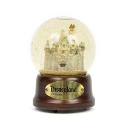 Disneyland Castle Musical Snow Globe.