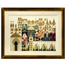 """It's a Small World"" Mary Blair Disneyland Hotel Print."