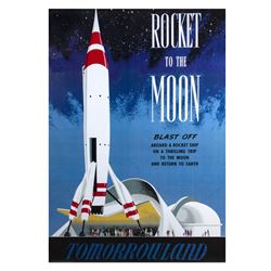 """Rocket to the Moon"" Disney Gallery Attraction Poster."