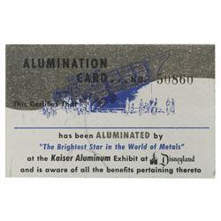 "Kaiser Aluminum ""Alumination Card""."