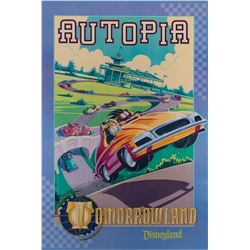 """Autopia"" Signed Attraction Poster."