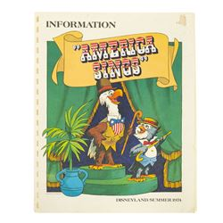 """America Sings"" Press Information Book & Letter."