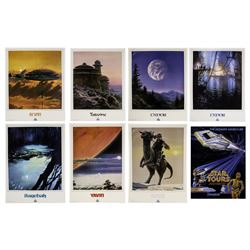 "Set of (8) Unopened ""Star Tours"" Travel Posters."