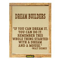 Walt Disney Quote Construction Wall Sign.