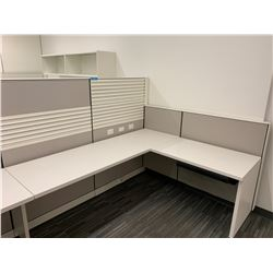 2 x Herman Miller Work Stations w/ Wall