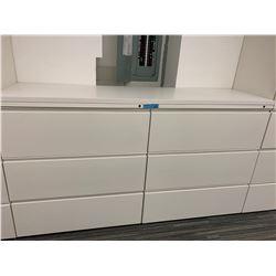 2 x Herman Miller 3 Drawer Metal Filing Cabinet