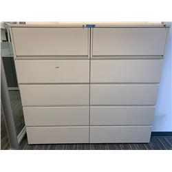 2 x Herman Miller Door Metal Filing Cabinet