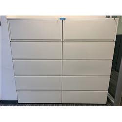 2 x Herman Miller 5 Door Metal Filing Cabinet