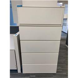 1 x 5 Door Metal Standing Filing Cabinet