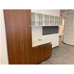 Wooden Wardrobe w/shelving unit