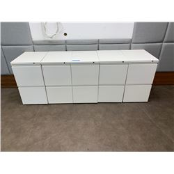 5 x 2 Drawer Small Cabinets