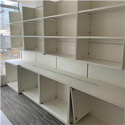 Lot of 4 Metal storage shelving units