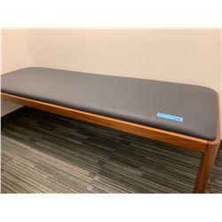 Wooden Padded Bench/Bed in Nap Room