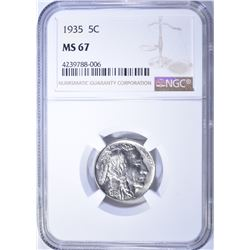 1935 BUFFALO NICKEL, NGC MS-67