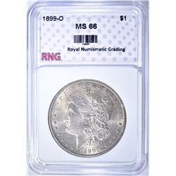 1899-O MORGAN DOLLAR, RNG SUPERB GEM BU