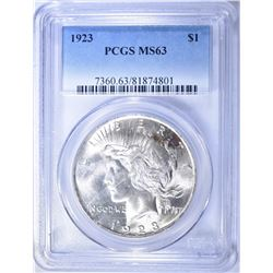 1923 PEACE DOLLAR  PCGS MS-63