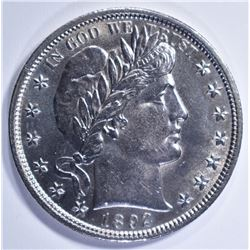 1892 BARBER HALF DOLLAR, GEM BU